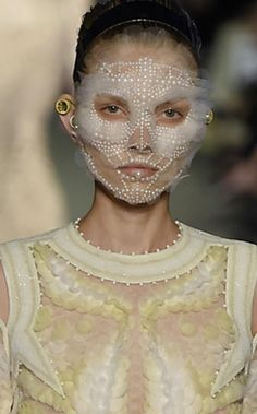Givenchy SS16 face lace by Pat McGrath