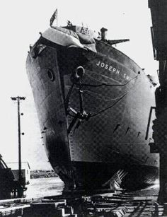 SS Joseph Smith 1944. The Liberty ship started to break in two in the Atlantic Ocean (44°30′N 43°10′W) and was abandoned. She was scuttled by a Royal Navy ship