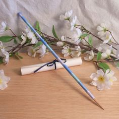 Reed of Seshat Bamboo Pen   Variegated Blue Wrapped Bamboo Dip Pen