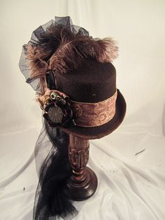 Elsie Massey Steampunk Brown Riding Hat