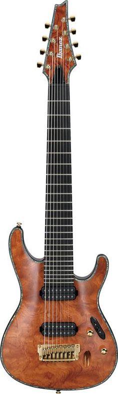 Ibanez Iron Label 8-String Premium Guitar Natural