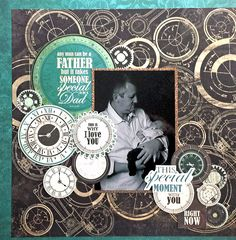 Kaisercraft : Time Machine Collection : Father layout by Amanda Baldwin Vintage Scrapbook, Baby Scrapbook, Scrapbook Pages, Heritage Scrapbooking, Scrapbooking Layouts, Scrapbook Templates, Scrapbook Sketches, Edd, Lay Outs
