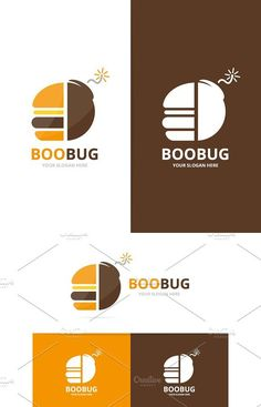 Vector burger and bomb logo combination. Hamburger and detonate symbol or icon. Unique fastfood and weapon logotype design template. Business Essentials, Web Design, Graphic Design, Professional Logo Design, Logo Food, Food Festival, Creative Logo, Logo Ideas, Slogan