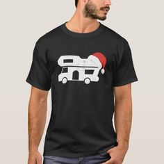 Retro Motorhome and Christmas Hat Gift for Camper T-Shirt camping smores ideas, camping cooking ideas, camping hacks with kids #thesunsets #campinginspiration #avantgardecampingco, christmas decorations, thanksgiving games for family fun, diy christmas decorations