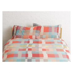 MONICA Multi-coloured patterned kingsize duvet cover