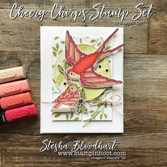 Cheery Chirps Stamp Set by Stampin' Up! in the 2017 Holiday Catalog used for Global Design Project 110 Sketch Challenge - SU - new Stampin' Blends alcohol markers Christmas Cards To Make, Holiday Cards, Holidays 2017, Bird Cards, Global Design, Stamp Making, Tampons, Stampin Up Cards, Cardmaking