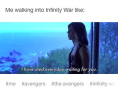 It's gonna be great and we're all gonna scream and cry our hearts out. #infinity war