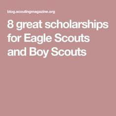 These days, higher education comes with a higher price tag. These scholarships for Eagle Scouts will help take out some of the sting. Scout Mom, Girl Scout Swap, Girl Scout Leader, Wolf Scouts, Cub Scouts, Eagle Scout Gifts, Eagle Scout Cake, Eagle Scout Project Ideas, Eagle Scout Ceremony