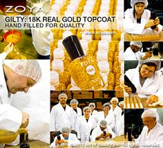 See how Zoya Gilty 18k Real Gold Topcoat is hand filled