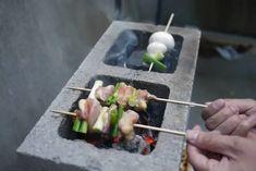 yakitori – l k t c Cinder Block Fire Pit, Cinder Block Bench, Cinder Block Garden, Cinder Blocks, Barbecue Grill, Grilling, Fire Pit Backyard, Backyard Bbq, Backyard Ideas