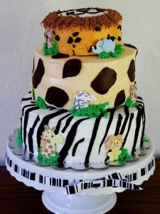 Zoo Party Cake!  Homemade!