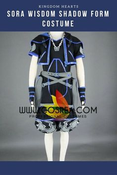 size 40 34d1b bdc75 Kingdom Hearts II Sora Wisdom Shadow Form Cosplay Costume