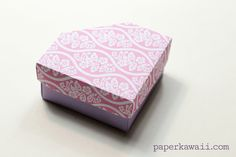 Origami long box lid with handle box lids origami and origami origami gem box lid tutorial diagram sciox Gallery