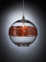 Pendant lamp / contemporary / glass / halogen