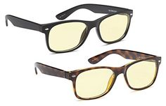 AV-SuperPak-2-Pack-Computer-and-Gaming-Glasses-for-Monitor-Screen-Eye-Strain-Relief-Anti-Glare-and-Non-Reflective-Blue-Ray-Blockers-for-Home-and-Office