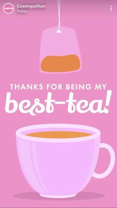 Thanks for being my best-tea! Thanks for being my best-tea! Tea Quotes Funny, Tea Time Quotes, Tea Lover Quotes, Tea Puns, Bubble Milk Tea, Cuppa Tea, Tea Gifts, Flower Tea, Best Tea