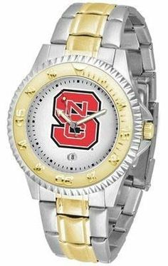 NCSU NC State Wolfpack Men's Two Tone Dress Watch SunTime. $86.95. Two-Tone Stainless Steel. Officially Licensed North Carolina State Wolfpack Men's Two Tone Dress Watch. Gold Ion-Plated Bezel-Date Function. Men. Links Make Watch Adjustable