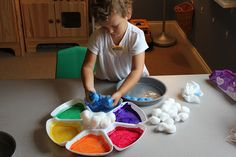 Play At Home Mom LLC: Baked Cotton Balls