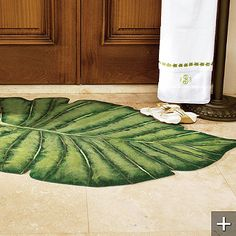 Palm Frond Indoor Outdoor Rug Over Priced But Still Cool