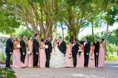 Donna Morgan Long Light Pink Bridesmaids Dresses