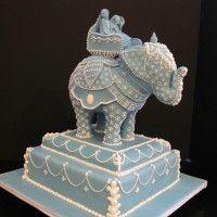 Incredible Indian elephant wedding cake