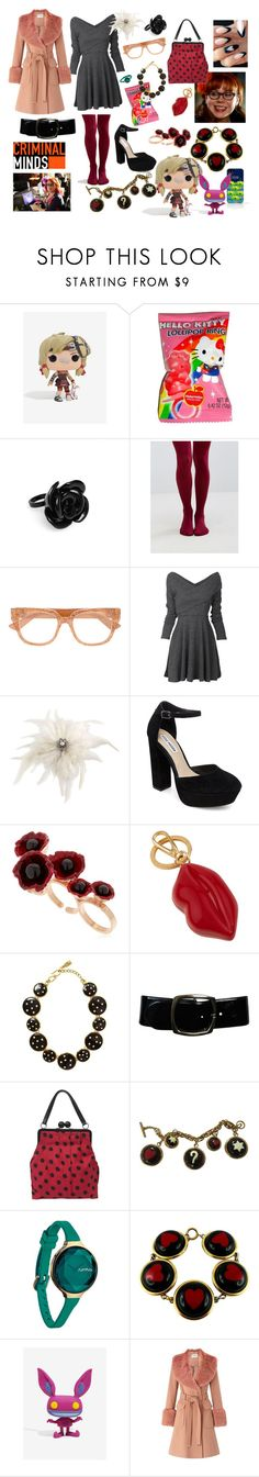 """Penelope Garcia"" by missmoxxie ❤ liked on Polyvore featuring Funko, Hello Kitty, Acne Studios, Gipsy, Gucci, Carolee, Steve Madden, Futuro Remoto, Lulu Guinness and Yves Saint Laurent"