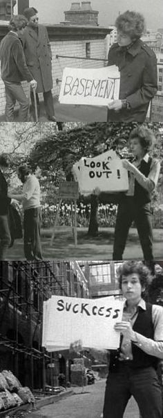Subterranean Homesick Blues is one of my favourite music videos from way back in 1965. It was so innovative