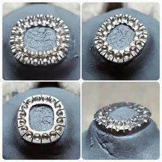 Working on the #setting #jewellerymaking #workinprogress #stonesetting #halo…