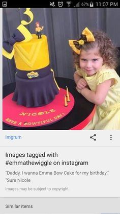 Wiggles Birthday, Wiggles Party, Girl 2nd Birthday, 4th Birthday Parties, Birthday Ideas, Emma Wiggle, Wiggles Cake, Ben And Holly, Bow Cakes
