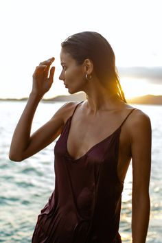 The sun even sets in paradise.  Shop glamorous dresses to take you into the tropical evenings on Black Book Fashion.   Item: Lily Silk Dress in Maroon  #boholuxe #bohochic #sustainablefashion #tonaldressing #resortwear #shopnewarrivals #whatshewore #ethicallymade #howtowear #daytonightlook #worldfashion #luxuryresortwear #summercollection #dailyoutfit #bohofashion #summerstyle #bohosummer #summeroutfit #ootd #bohoinspired #vacationstyle #summerdress #boholook #bohodress #tonaloutfit… Sustainable Clothing Brands, Sustainable Fashion, Bali Fashion, Slow Fashion, Glamorous Dresses, Maroon Color, Boho Look, Resort Wear, Silk Dress