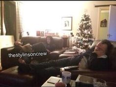 Harry, Anne and Robin during Christmas