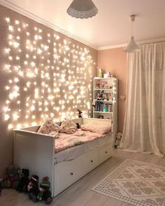 Small Dorm room Ideas That Are Look Stylishly & Space Saving ~ Beautiful House Bedroom Decor For Teen Girls, Room Ideas Bedroom, Small Room Bedroom, Daybed Bedroom Ideas, Bedroom Ideas For Small Rooms For Girls, Cool Bedroom Ideas, Ikea Girls Bedroom, Girly Bedroom Decor, Girls Room Curtains
