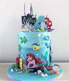 A Birthday Cake created for a little girl who loves the mermaid Ariel. Mermaid Birthday Cakes, Cookie Jars, Ariel, Little Girls, Ocean, Instagram, Toddler Girls, The Ocean, Sea