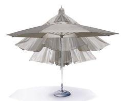 Funkcjonalny parasol Autoscope gwarantuje niezawodność dzięki niezmiernie łatwej obsłudze otwierania i zamykania oraz designie za sprawą nowatorskiej tkaninie.