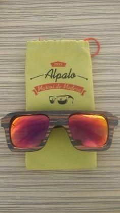 Anteojos De Madera Alpalo - Raikkfury Rojo