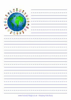 Children of the world writing paper