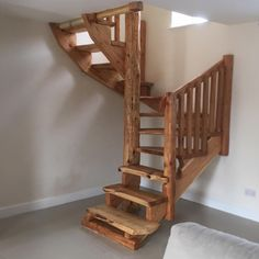 gorgeous log stairs
