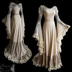 art nouveau inspired gown ghostly dreamy by SomniaRomantica on DeviantArt