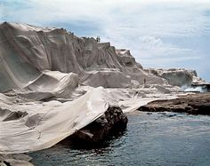 """Wrapped Coast by Christo and Jeanne Claude.  I WILL go to Colorado to see """"Over the River"""" in 2015."""