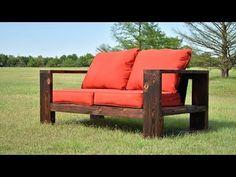 (88) DIY Modern Outdoor Sofa - Shou Sugi Ban | Limited Tools | Free Plans - YouTube