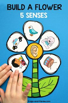 Teaching kids about 5 senses can be a lot of fun! This hands-on printable activity will help your kids understand how they use their senses to learn about the world around them! Five Senses Preschool, 5 Senses Activities, Preschool Activities At Home, Preschool Learning Activities, Indoor Activities For Kids, Free Preschool, Preschool Printables, Preschool Kindergarten, Teaching Plan
