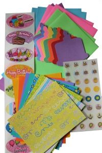birthday card making kit