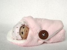 Cute as a Button OOAK Hande Sculpted Bundle Baby by lovinclaydolls, $29.00