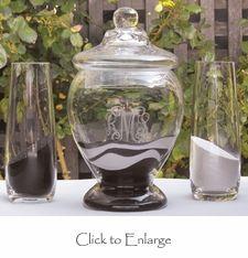 Keepsake Unity Sand Vessel with Lid Vase Set