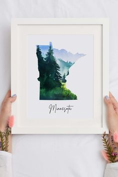 Watercolor Print, Watercolor Paintings, Minnesota Outline, Housewarming Gifts, Personalized Wedding Gifts, State Art, Printable Wall Art, House Warming, Printer