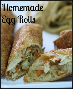 Making Egg Rolls isn't as hard as it seems! Check this recipe out and you will never buy egg rolls at the store again! Making Egg Rolls isn't as hard as it seems! Check this recipe out and you will never buy egg rolls at the store again! Egg Roll Recipes, Great Recipes, Favorite Recipes, Comida Filipina, Homemade Egg Rolls, Vegetarian Recipes, Cooking Recipes, Vegetarian Egg Rolls, Vegetable Egg Rolls