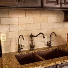Rustic Backsplash Design (I would like to find it in a gray tone)