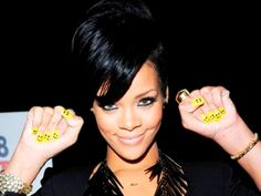 Rihanna's smiley nails