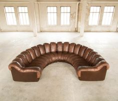 De Sede DS 600 - Non Stop Sectional Sofa - 19pcs - Cognac Leather | From a unique collection of antique and modern sectional sofas at http://www.1stdibs.com/furniture/seating/sectional-sofas/