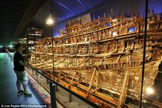 Window on the past: The Mary Rose on display in Portsmouth last week. In 1545 the Mary Ros...